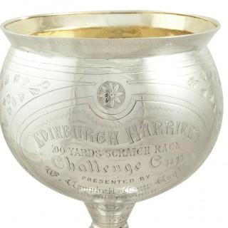 Antique Victorian Sterling Silver Trophy / Cup 1877 – Edinburgh Harriers
