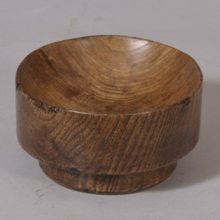 Antique Treen 18th Century Sussex Elm Log Bowl