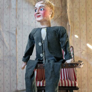 An Early 20th Ventriloquist's Dummy; Attributed to Herbert Brighton c.1930