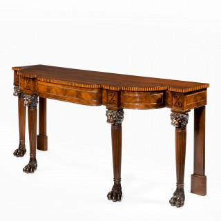 An unusual and striking Regency mahogany serving/console table, after a design by George Smith