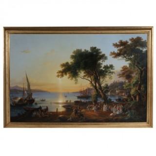 """PIETRO DELLA VALLE (1827 – 1891) – """"LA MERANDA A TRAMONTO"""" 1857"""
