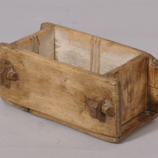 Antique Treen 18th Century Birch Brick Shaped Butter Mould