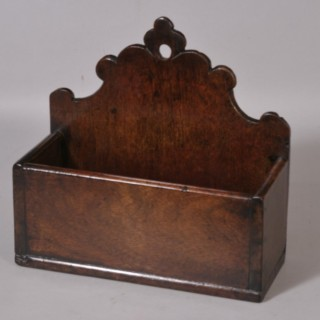 Antique 19th Century Walnut Wall Mounted Candle Box