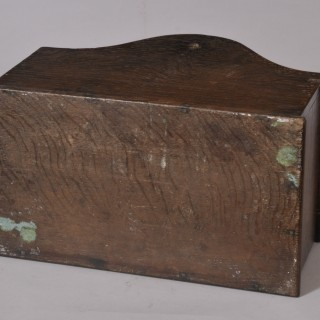 Antique 19th Century Oak Lidded Candle Box