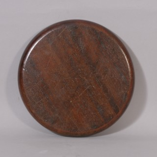Antique Treen Georgian Mahogany Card Tray