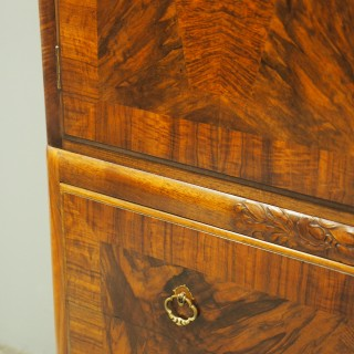 Walnut Linen Press by Whytock and Reid, Edinburgh