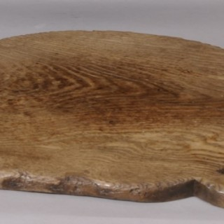 Antique Treen 19th Century Ash Bread Board