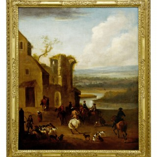 Large Early 18th Century Sporting Landscape