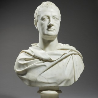 Neoclassical Marble Bust of Lord Monson