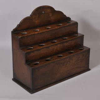 Antique 18th Century Oak Spoon Rack