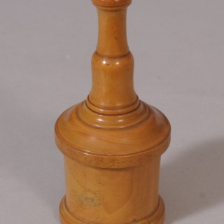 Antique Treen 19th Century Boxwood Glove Powderer