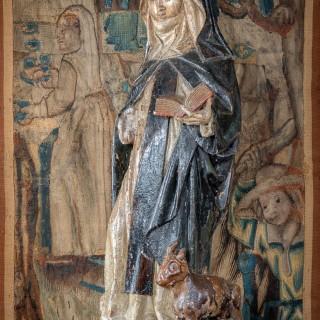 Late Gothic sculpture of St Brigid