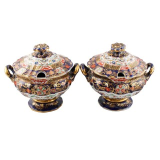 Pair of Mason's Ironstone Tureens