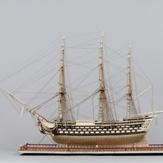French Napoleonic Prisoner of War Work Model of H.M.S 'Temeraire'