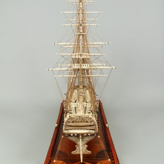 French Napoleonic Prisoner of War Work Model of H.M.S 'Temeraire'