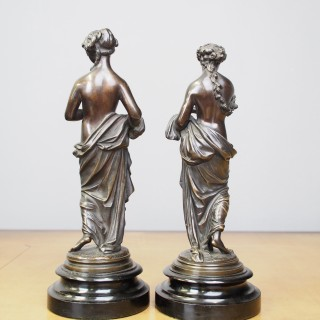 Pair of Classical Inspired Bronze Figures
