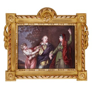 19th Century Theatre themed Limoges enamel painting