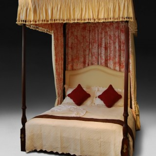 Chippendale period Mahogany four poster bed