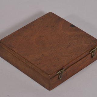 Antique Georgian Mahogany Cased Explorer's Compass