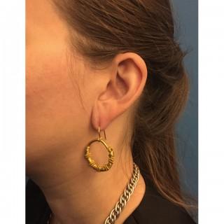 Ancient Greek wirework earrings, circa 5th-4th century BC.