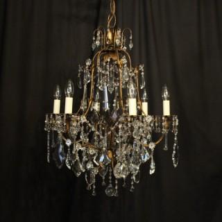 Italian Florentine 6 Light Antique Chandelier