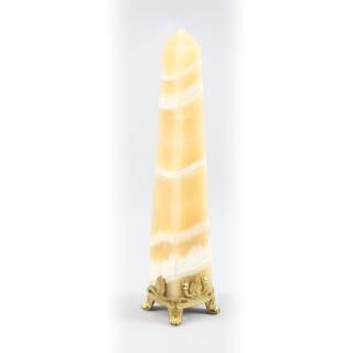 Antique French Grand Tour Onyx & Ormolu Obelisk 19th C
