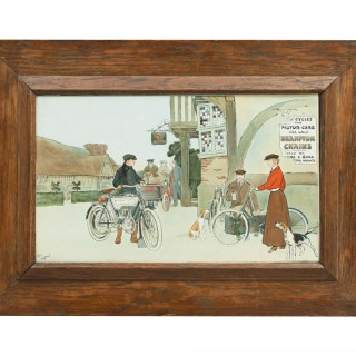Cecil Aldin Motoring Print, Bramptons Chains