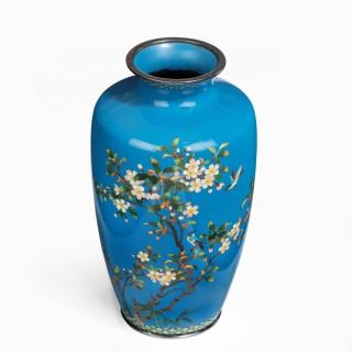 A Meiji period cloisonné vase by Hayashi Kodenji
