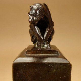 Bronze Sculpture of a Panther , signed: GILBERT
