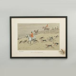 Snaffles Hunting Print, Stone Wall