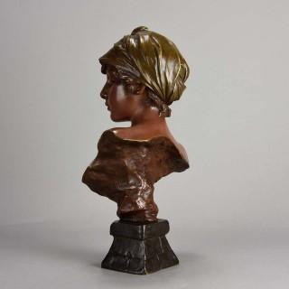 Art Nouveau Bronze Bust entitled