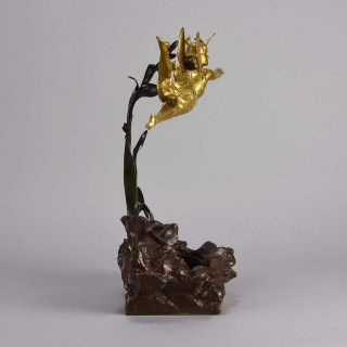 "Art Nouveau Bronze entitled ""La Mouche d'Or"" by  Alfred Grévin"