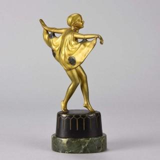 Cold Painted Art Deco Bronze entitled