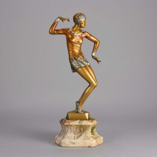 Cold Painted Art Deco Bronze entitled