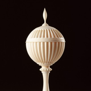 Fine English Regency Ivory Turned Cup and Cover