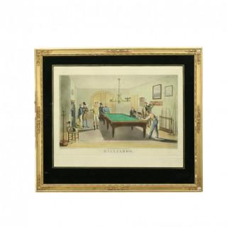 Billiards Engraving
