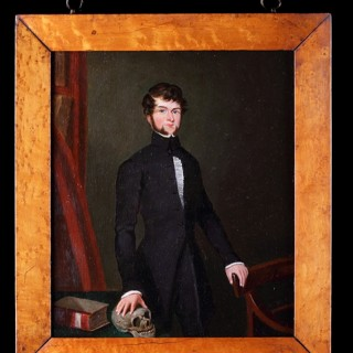 Victorian Naive English Portrait of a Young Doctor