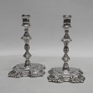 Antique George II Silver Tapersticks