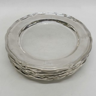 George III Silver Dinner Plates