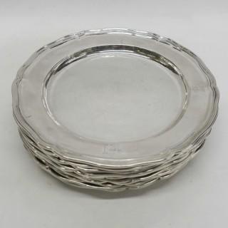 George III Silver Dinner Plates