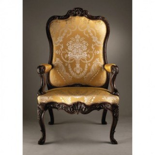 MAGNIFICENT DUTCH 18TH CENTURY THRONE CHAIR