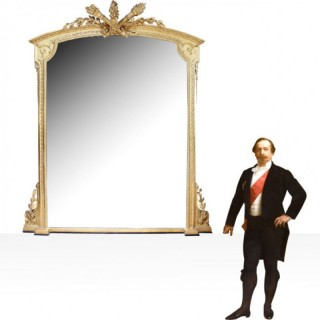 NAPOLEON III GILTWOOD AND COMPOSITE OVERMANTLE MIRROR