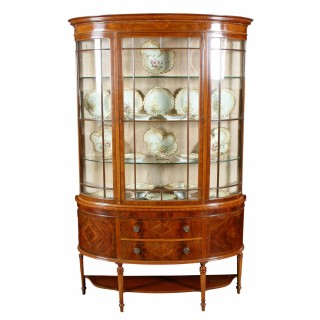 Demi Lune Mahogany Display Cabinet