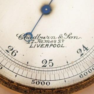 Victorian Pocket Barometer & Compass