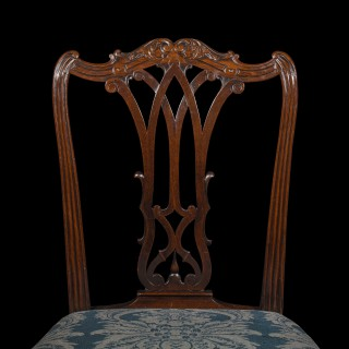 Fine Pair of George III Gothic Chippendale Chairs