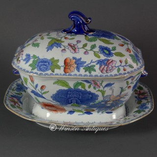 MASON'S IRONSTONE CHINA SOUP TUREEN AND STAND
