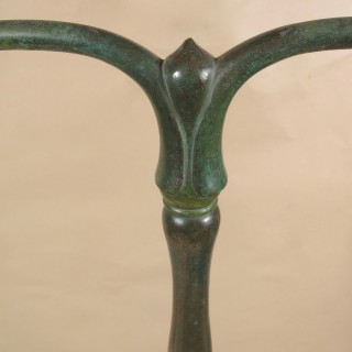 Original Stamped Tiffany Studios New York Lamp Base 423