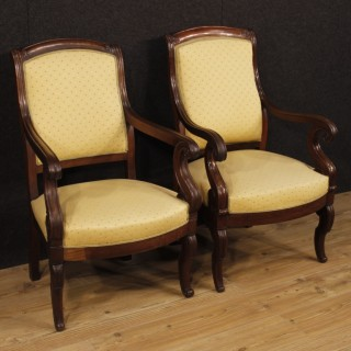 Antique French armchairs from 19th-century