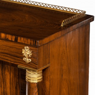 Pair late Regency rosewood side cabinets, in the French Empire style