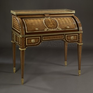A Petit Louis XVI Style Cylinder Bureau